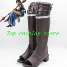 Final Fantasy XIII Cosplay Oerba Yun Fang Squall Cosplay Shoes boots brown shoe