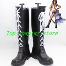 Final Fantasy X-2 X Cosplay Yuna Yuna's Black Lace Up Boots Shoes shoe boot