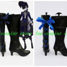 Black Butler Ciel Phantomhive Knight Cosplay Boots Shoes blue lace up shoe boot