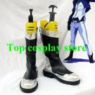 Mobile Suit Gundam 00 Cosplay Black & Silver Cosplay Boots shoes shoe boot