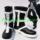Vocaloid Black Rock Shooter Version Len Cosplay Boots shoes Black & White #VC104