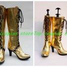 Vocaloid Diva Megurine Luka Gold High Heel Cosplay Boots shoes #VOC048 shoe boot