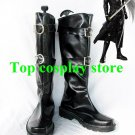 Final Fantasy VII Cosplay Sephiroth Black Buckle Boots shoes boot shoe