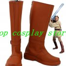 Star Wars Jedi Knight Obi-Wan Kenobi Cosplay Shoes Costume Boots Custom Made v2