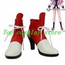 Revolutionary Girl Utena Tenjo Utena PU Leather Cosplay Boots shoes red/white V