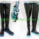 Vocaloid Hatsune Miku Black Long Cosplay Boots shoes Black/Blue Version D #VOC79