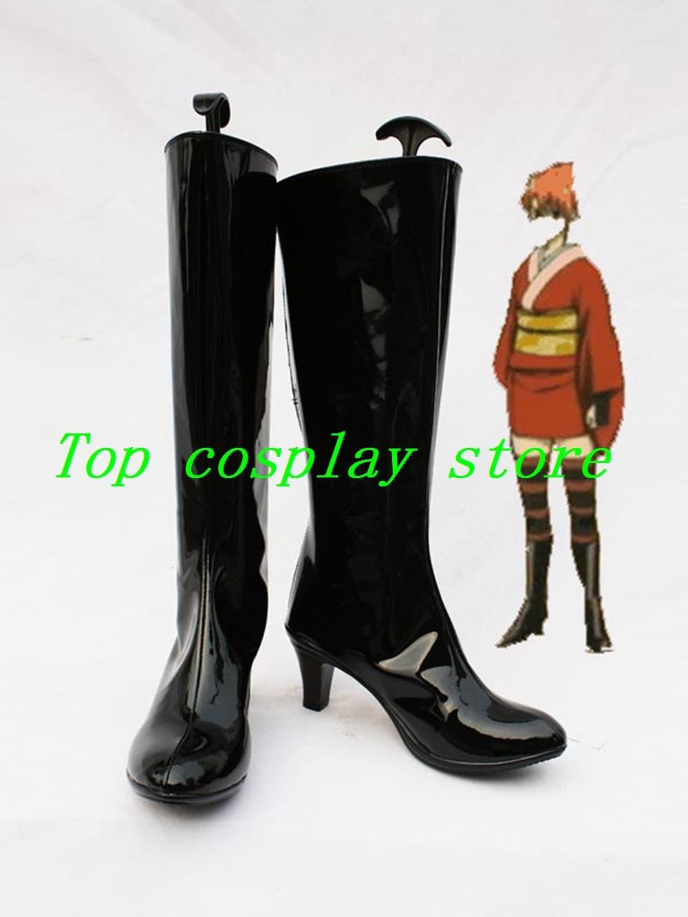 Gintama Silver Soul/Gin Tama Kagura Cosplay Show Boots shoes black Ver #DTSS03