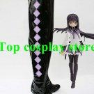 Puella Magi Madoka Magica Homura Akemi Cosplay Boots shoes long black #PM005