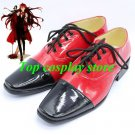 Black Butler Cosplay Grell Sutcliff Red & Black Cosplay shoes Kuroshitsuji Ciel