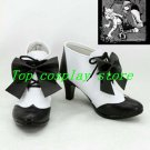Black Butler Kuroshitsuji Ciel Phantomhive High Heel Cosplay Boots shoes bow ver
