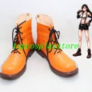 Final Fantasy VII Tifa Lockhart Orange Cosplay Boots shoes fe32