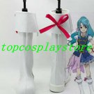 AKB0048 Cosplay Chieri Sono White Cosplay Boots shoes white ver with red bow #AKB002