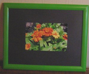 Lime Green Wood Frame