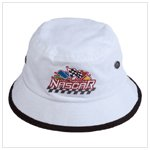 White Nascar Bucket Hat
