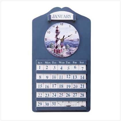 Lighthouse Wall Clock And Calendar