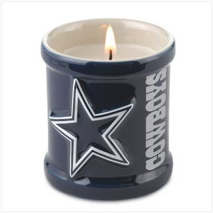 NFL Dallas Cowboy Candle