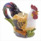 Ceramic Rooster Candle
