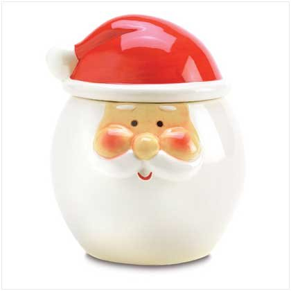 Smiling Santa Treat Jar