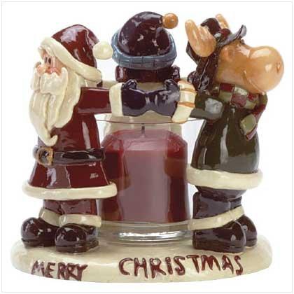 Christmas Friends Candleholder