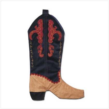 Velvet Boot Shaped Stocking
