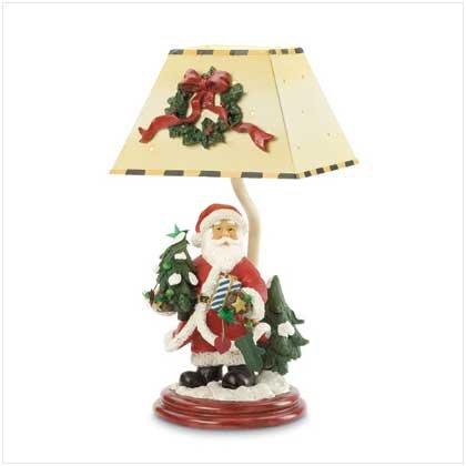 Santa Candleholder with Shade