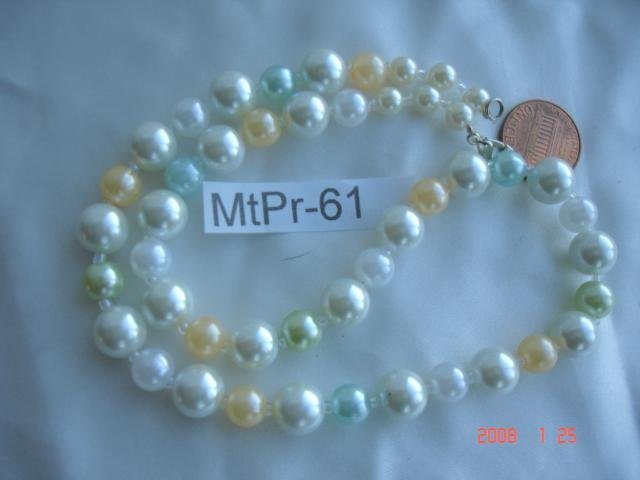Beautiful pearl, jade, agate, onyx look necklaces