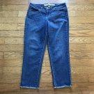NINE WEST Vintage America Jeans Mid Rise Size 8 Alba Cotton Blend Jeans