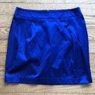 FOREVER 21 Tag Size Large Blue Mini Metallic Shiny Clubwear Skirt