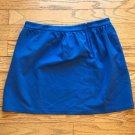 J.CREW Womens Size 12 Blue A-Line Back Zip Viscose Blend Mini Skirt NWT