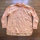 J.Jill Women XS Light Peach Orange Tencel Lyocell Long Sleeve Button Front Shirt