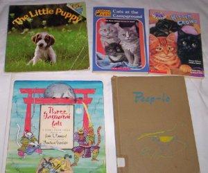 Books - Set of 5, Puppies, Kittens, Birds