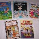 Books - Set of 5, Kids, frogs & school adventures