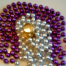 Purple and White Beaded Greeting Card
