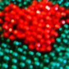 Red and Green Beaded Greeting Card