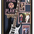 Jimmy Page and Robert Plant - Led Zeppelin - Signed Guitar Custom Framed