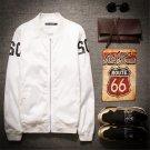 Thin baseball Clothes 2015 New Hot Autumn Korean  Slim Men's Jacket Fashion Personality Wihte Black