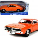 1969 Dodge Charger R/T Orange 1/18 Diecast Model Car by Maisto