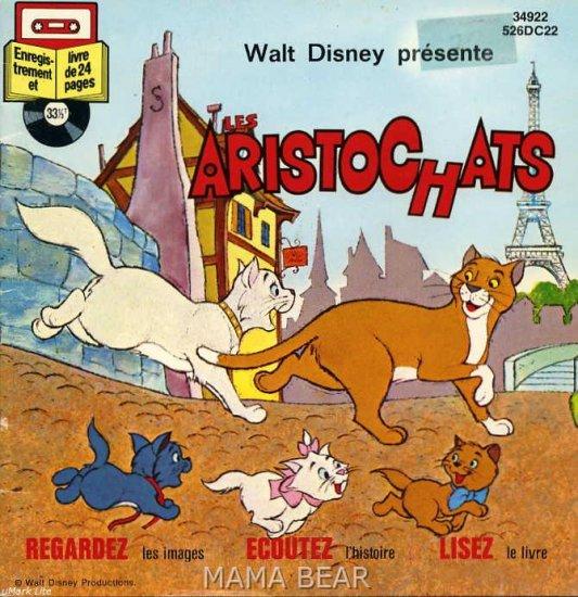 Aristochats Walt Disney ** FRENCH** Children's Book