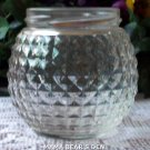 Clear Diamond Pattern Jar No Lid