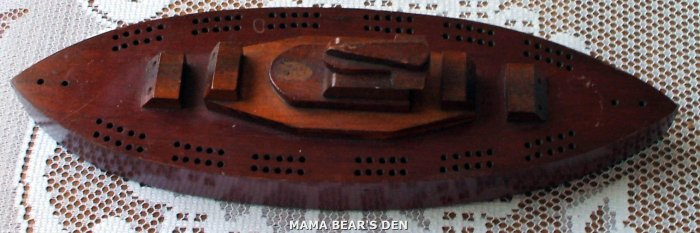 Solid Wood Ship Cribbage Board
