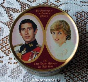 Princess Diana and Prince Charles Sweets Tin