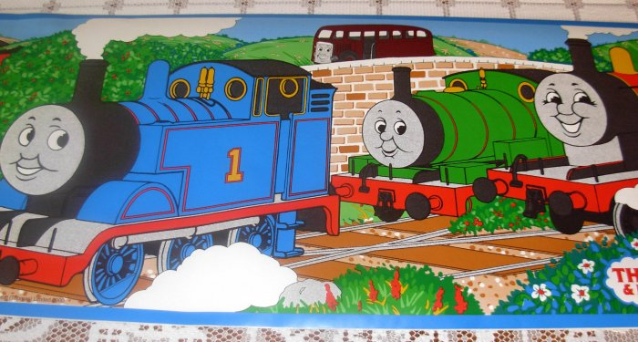 Thomas the Tank Engine Wallpaper Border Self Adhesive Vinyl