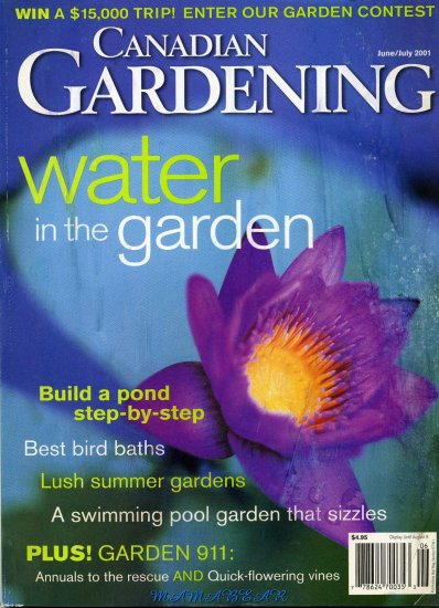 Canadian Gardening  June/July 2001  Water in the Garden