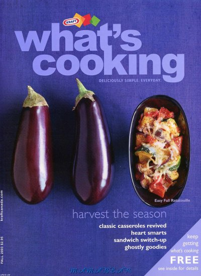 Whats Cooking by Kraft   Back Issue Fall 2003