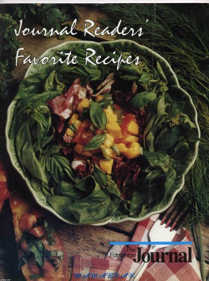 Journal Readers Favorite Recipes 1992-93 COOKBOOK