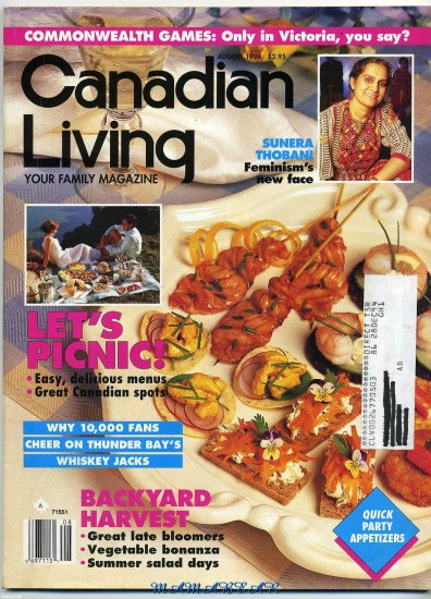 Canadian Living  Your Family Magazine Back Issue  August 1994