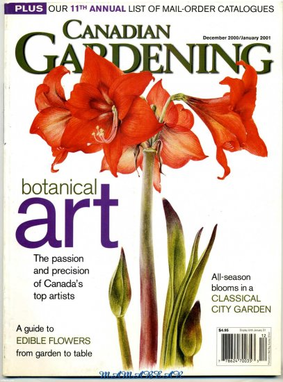 Canadian Gardening Botanical Art Back Issue Magazine