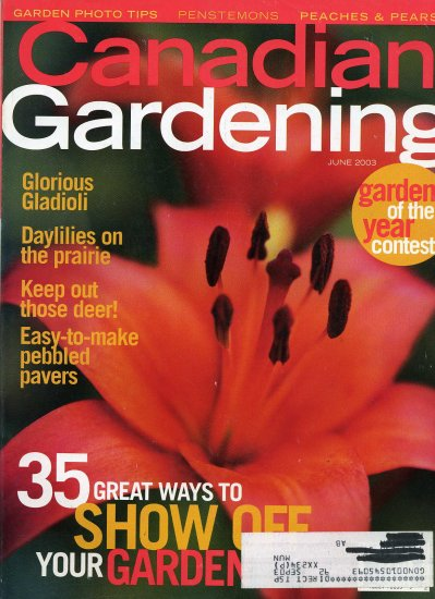Canadian Gardening Back Issue June 2003 Show Off Your Garden