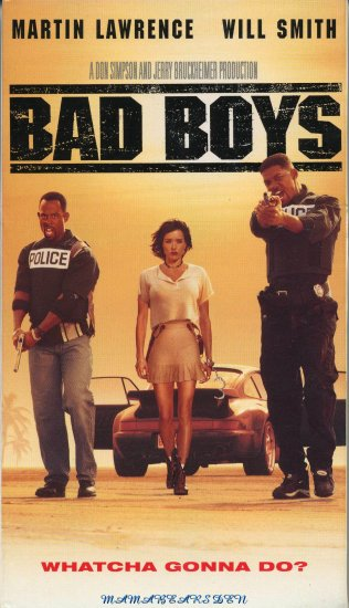 Bad Boys 1995 VHS Movie Starring Martin Lawrence & Will Smith