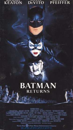 Batman Returns Starring Micheal Keaton, Danny DeVito